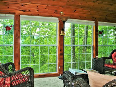 Photo for Downtown Helen! Jetted Tub*Sunroom*Screen Porch*Surrounded by Mountain Views!