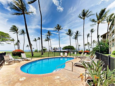 Photo for Waipuilani Park 2BR w/ Pool & Unimpeded Ocean View - Walk to Beach & Shopping