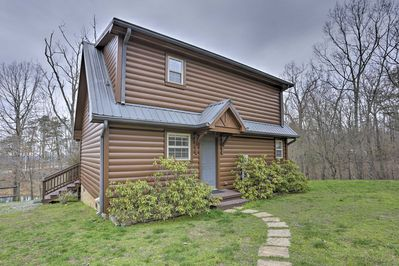 Visit Rising Fawn while staying at this vacation rental cabin in the woods!