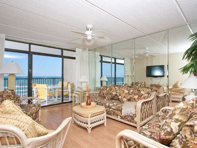 Photo for New Listing! Gulf-View Getaway: Pool, Sauna & Private Balcony, Steps to Beach