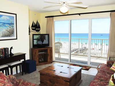 Photo for Beautifully Decorated Beachfront Condo, Direct Ocean Views from 4th Floor -gd304