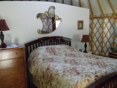 """Photo for """"Mystical Rose"""" is a themed Yurt as part of an original Yurtel bed and breakfast"""