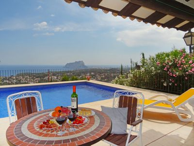 Photo for This 2-bedroom villa for up to 4 guests is located in Benissa and has a private swimming pool and Wi