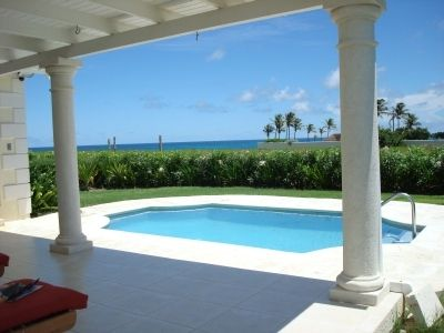 View of the pool & sea from the breezy back patio