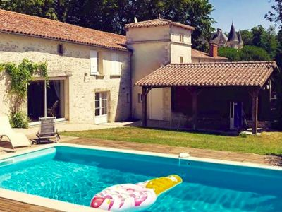 Photo for Le Parc of Château de Bourneau, private swimming pool in exceptional location