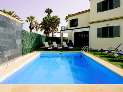 Photo for Villa With Sea Views, 5 Bed With Private Heated Pool And Enclosed Garden