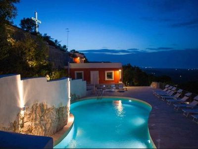 Photo for holiday house with pool in Ostuni.Sea view. Ostuni down town 700 m
