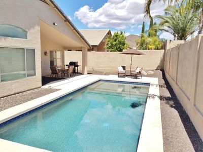 Photo for Private Pool, 4 bedrooms, 2 full baths.  Our home setup for AZ Fun in the Sun!