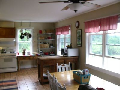 airy kitchen / dining area