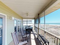 Great location to beach but needing some small touches to make a good property great.