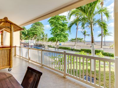 Photo for Oceanfront condo on Playa Jaco w/ huge balcony & shared pool access!