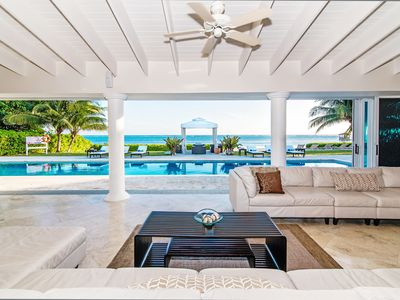 Photo for Villa Mora: Luxurious Gated Estate on a Private Beach w/Pool, Spa, & Outdoor Kitchen