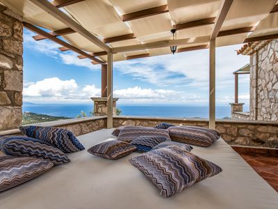 Photo for Luxury Stone Villa With a View of the Endless Blue of the Ionian Sea