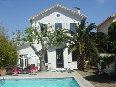 Photo for Villa 180m² large pool garden 300 m from the beach Pointe Rouge