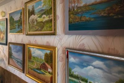 A closer look at Mama Margie's work. She enjoyed painting in her spare time.