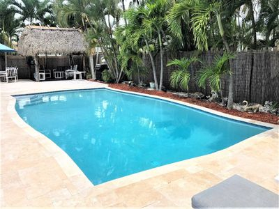 """When You're Here It's """"Just Another Day in Paradise"""" Private Deck Pool, Tiki Hut"""