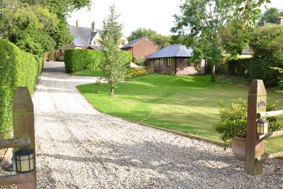 Cottage well away from the main road with 2 car park spaces right outside.