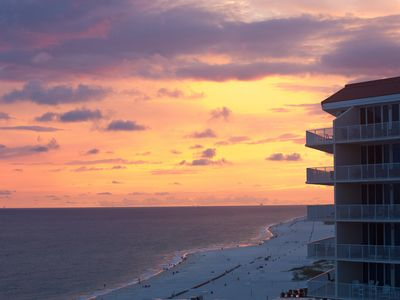 Enjoy the white sand beaches at this relaxing oceanfront condo in Gulf Shores!