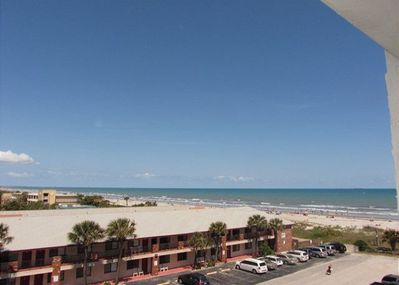 Oceanfront View Overlooking the Beach from Balcony