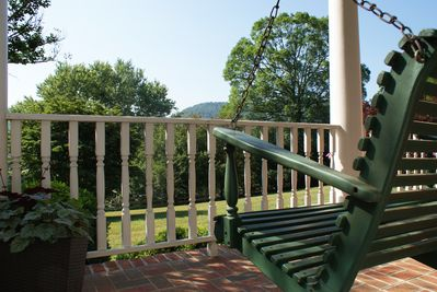 Enjoy your morning coffee with gorgeous views from the front porch.