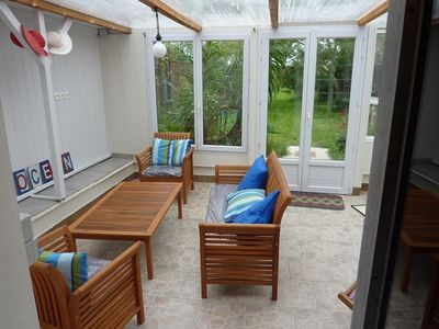 Photo for House Granit with garden & WIFI, typical barfleur 250m from the port