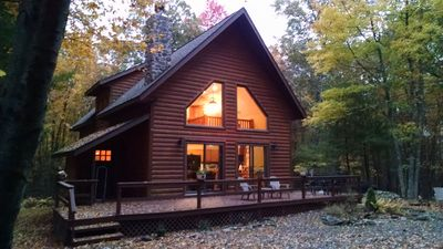 Photo for Masthope modern log-cabin sided retreat!