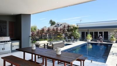 BBQ deck and 10x4m pool