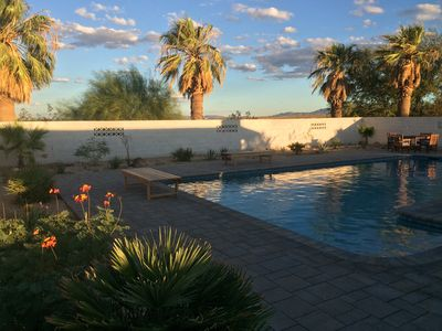 Photo for Joshua Tree retreat, private and stylish with new pool and sauna
