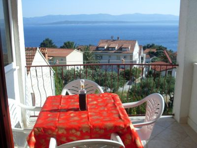 Photo for Two bedroom apartment with terrace and sea view Bol (Brač)