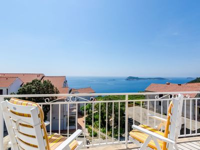 Photo for Comfortable apartment with amazing seaview and private balcony,free parking,WIFI
