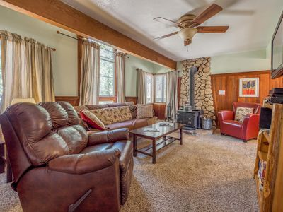 Photo for Inviting, dog-friendly cottage with a hot tub, wood stove, near the village!