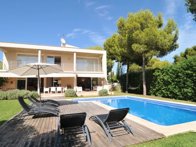 Photo for Nice villa with pool and barbecue only 900 meters from Port Adriano and beach. Golf at 500m