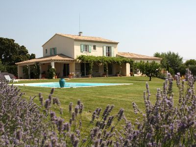 Photo for Beautiful House with pool, breathtaking views, Between Avignon / Nimes