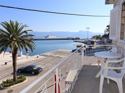 Photo for One bedroom apartment with balcony and sea view Trpanj, Pelješac (A-9487-a)