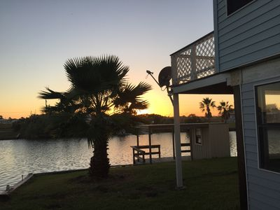 Can't get enough of these sunsets. Back deck is located up to the right.