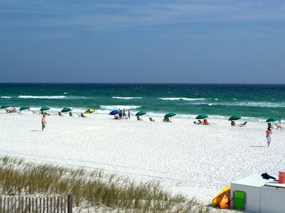 Starts March 9th!Beach Umbrella & 2 Chairs Included with your rental, $175 Value
