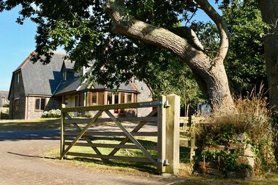 secure garden at the end of Millhouse Lane with a gate to keep everyone in!!