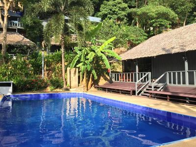 Photo for Deluxe bungalow Pool side