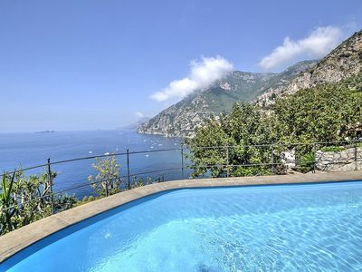 Photo for Villa Ernestina Grande: A splendid and luminous four-story villa set into the cliff, sheer above the sea, with Free WI-FI.
