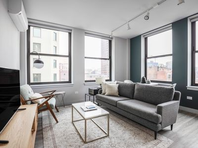 Photo for Bright Loop 1BR w/Gym, Roofdeck, W/D, nr West Loop & the L by Blueground