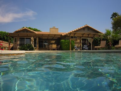 View of La Quinta Desert Retreat from the private salt water pool
