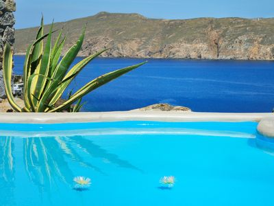 Photo for Villa SONES Mykonos, 9 Bedrooms, 9 Bathrooms, Private Pools, Up to 18 Guests, Superb view, 800 meters from the beach