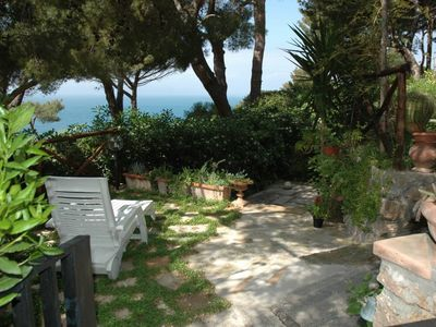 Photo for Porto Santo Stefano: Porto santo stefano House with garden and privat sea