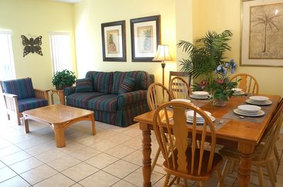 View of dining room and living room