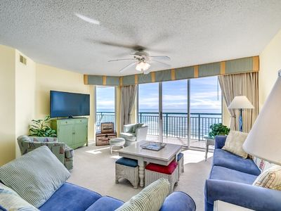 Beach Themed Oceanfront Condo, Lazy River, BBQ Grill | Windy Hill Dunes - 1304