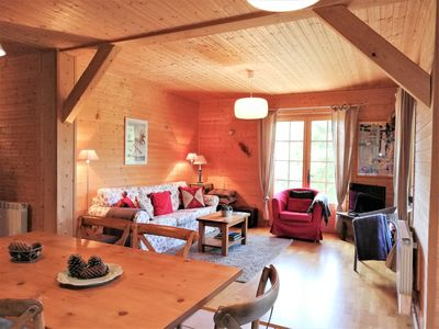 Photo for Chalet, apartment level-garden in St-Gervais, rated 3***,  panoramic views