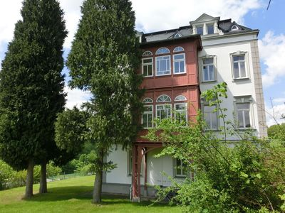 Photo for Exclusive apartment in the beautiful Ore Mountains with conservatory and villa park