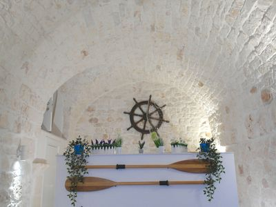 Photo for Lovely characteristic stone flat in Ostuni centre, easy parking, free wifi
