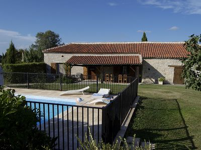 Photo for La Prunerie, character house with pool for 8 people