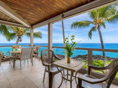 Photo for Direct Oceanfront | Stunning Kona Coast l Channel Your Inner Optimist